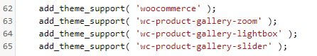 Código en functions.php sobre las imagenes en WooCommerce