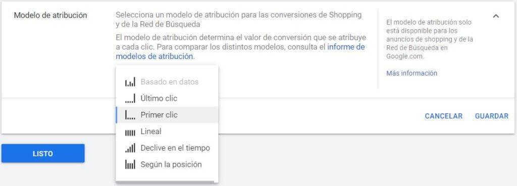 Modelos de atribución para la medición de las conversiones en Google Ads