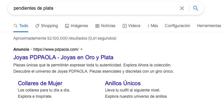 anuncio Google Shopping